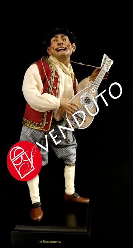 097 Suonatore di mandolino - h 30 cm