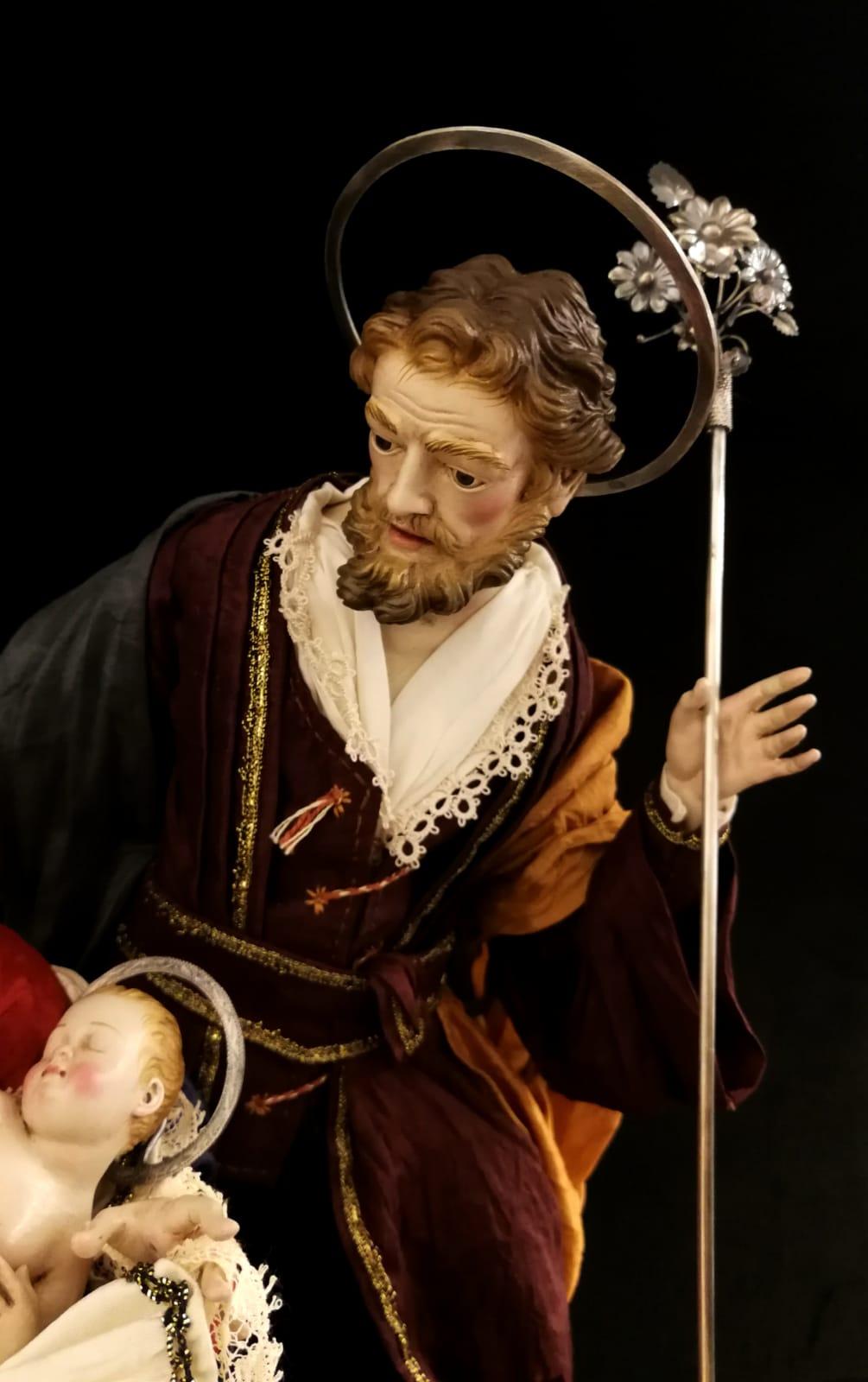 0168 - Natività - h 30cm - particolare San Giuseppe