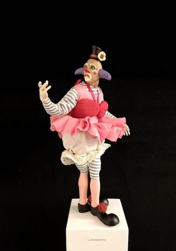0239 Pagliaccio ballerino - h 30 cm