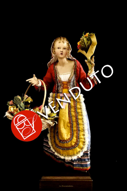0155 Venditrice di fiori - h 30 cm