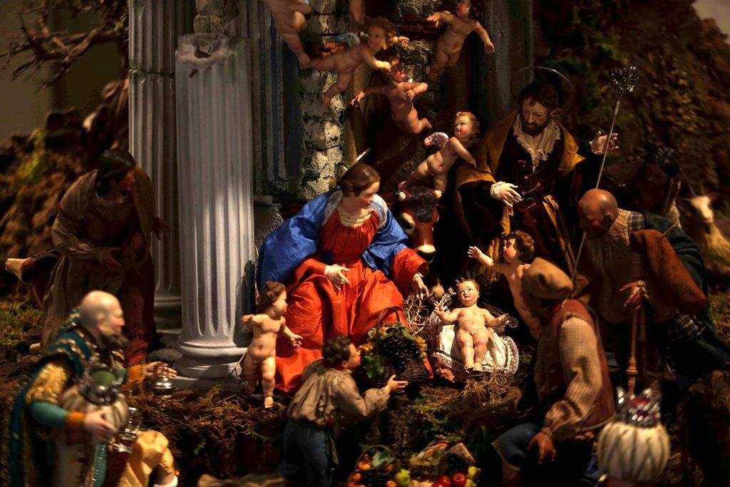 Presepe di Gerusalemme - scena dell'adorazione