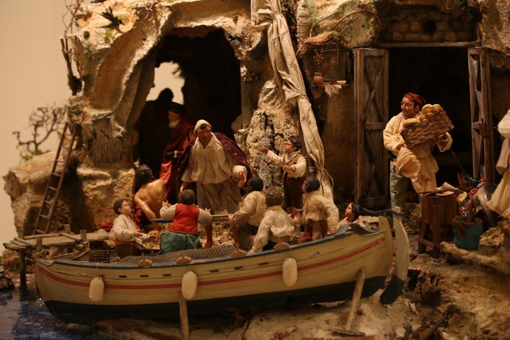 Presepe di New York - scena della barca