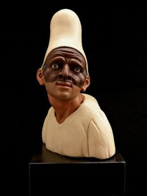 00010 Busto di Pulcinella - h 23cm