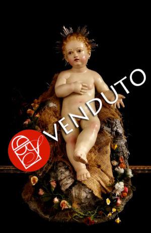0140  Bambinello Arte Sacra - h 30 cm