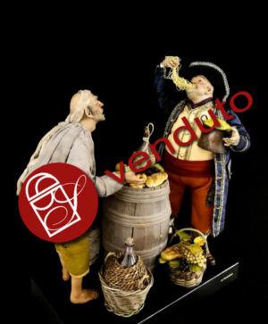 0162 Mendicante con mangiamaccheroni - h 30 cm