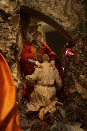 Presepe di New York - ritorno del figliuol prodigo (da Rembrandt)