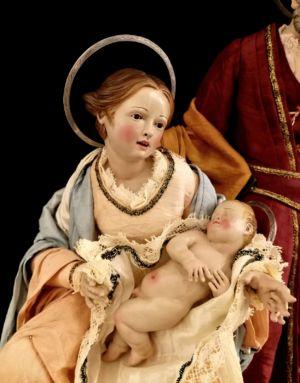 0166 - Natività - h 30cm - particolare Madonna con Bambino