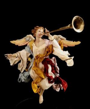 0157 Angelo con tromba - h 30 cm