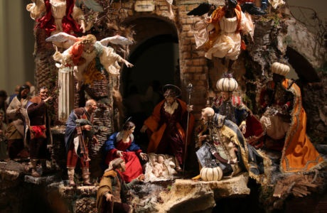 Presepe di New York - scena con Natività