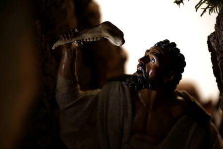 Presepe di New York - Sansone (da Caravaggio)