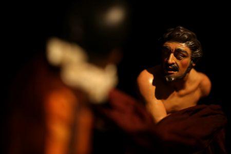Presepe di New York - mendicante (da Caravaggio)