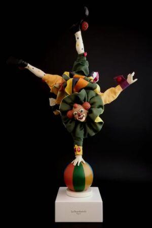 0319 Clown sottosopra - h 30 cm